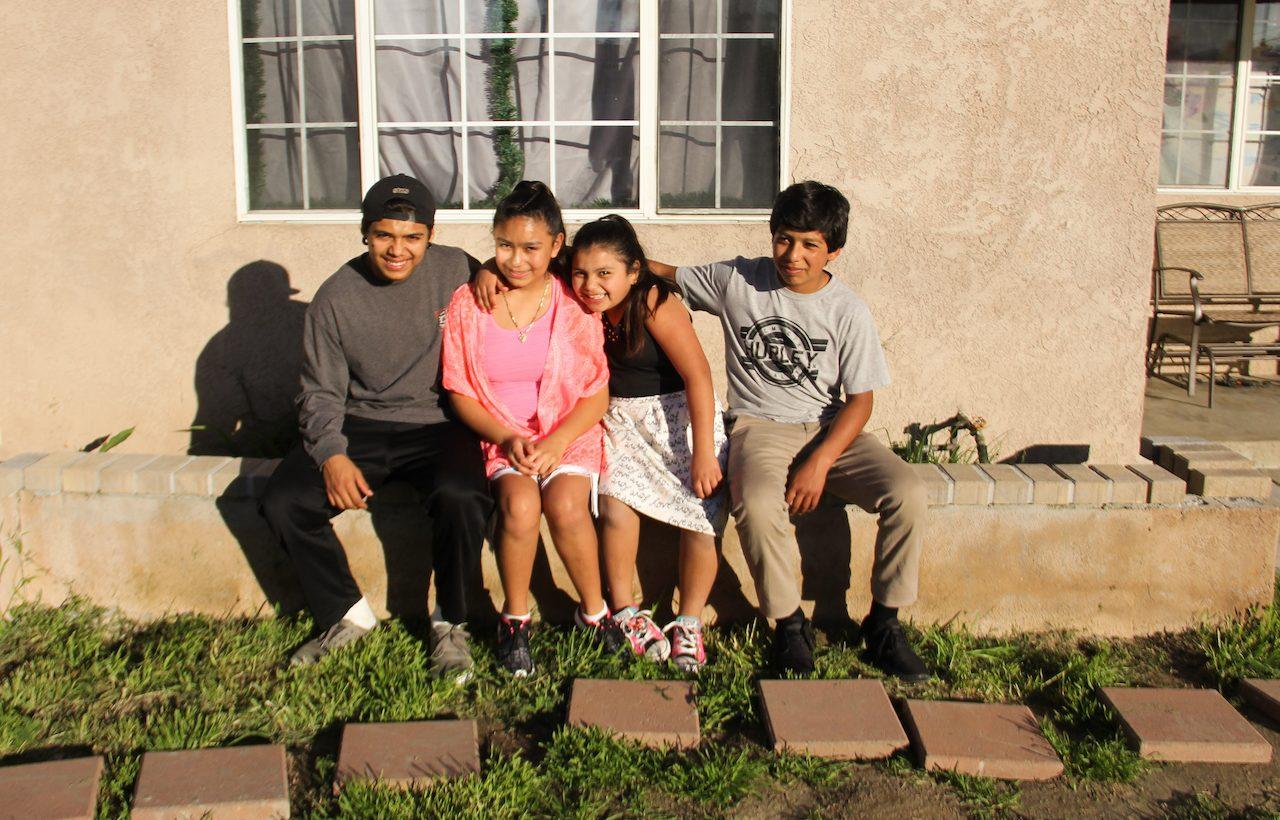 four children in family
